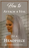 How to Attach Your Veil to a Headpiece