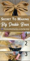 How to Make a Burlap Bow the Secret, 6-Step Way 1