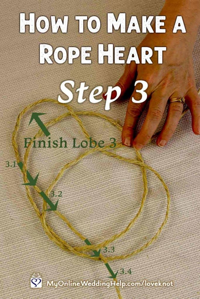 How to Make a Rope Heart Step 3