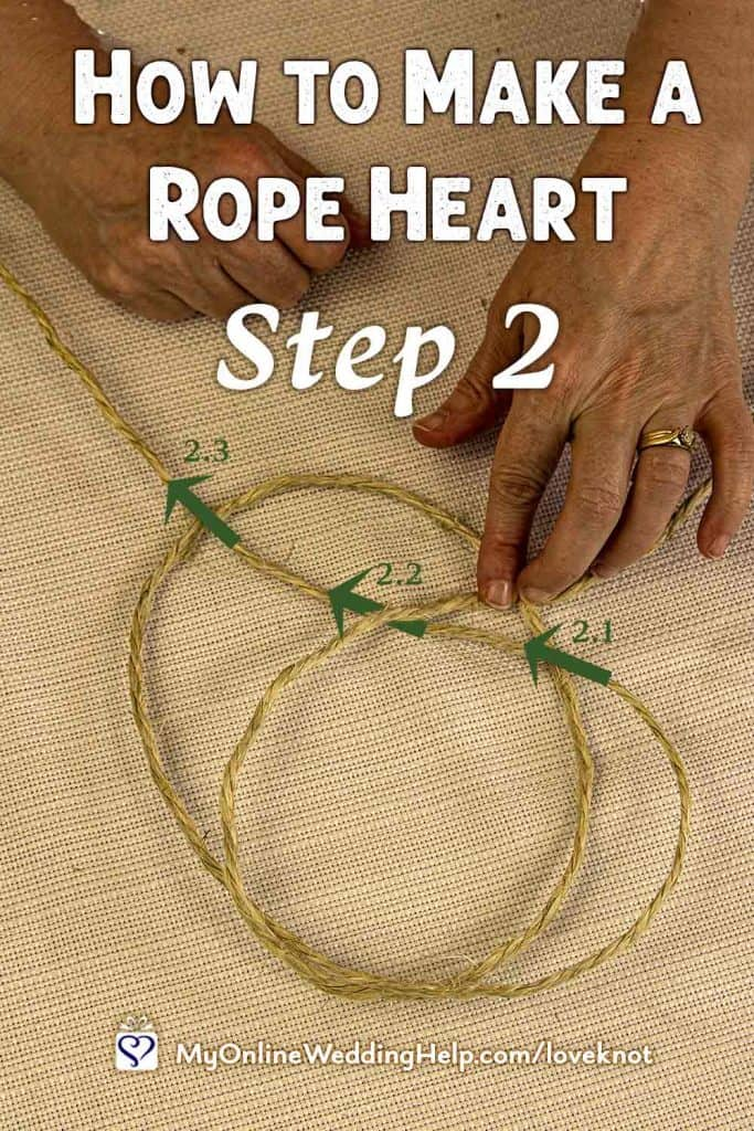 How to Make a Rope Heart Step 2