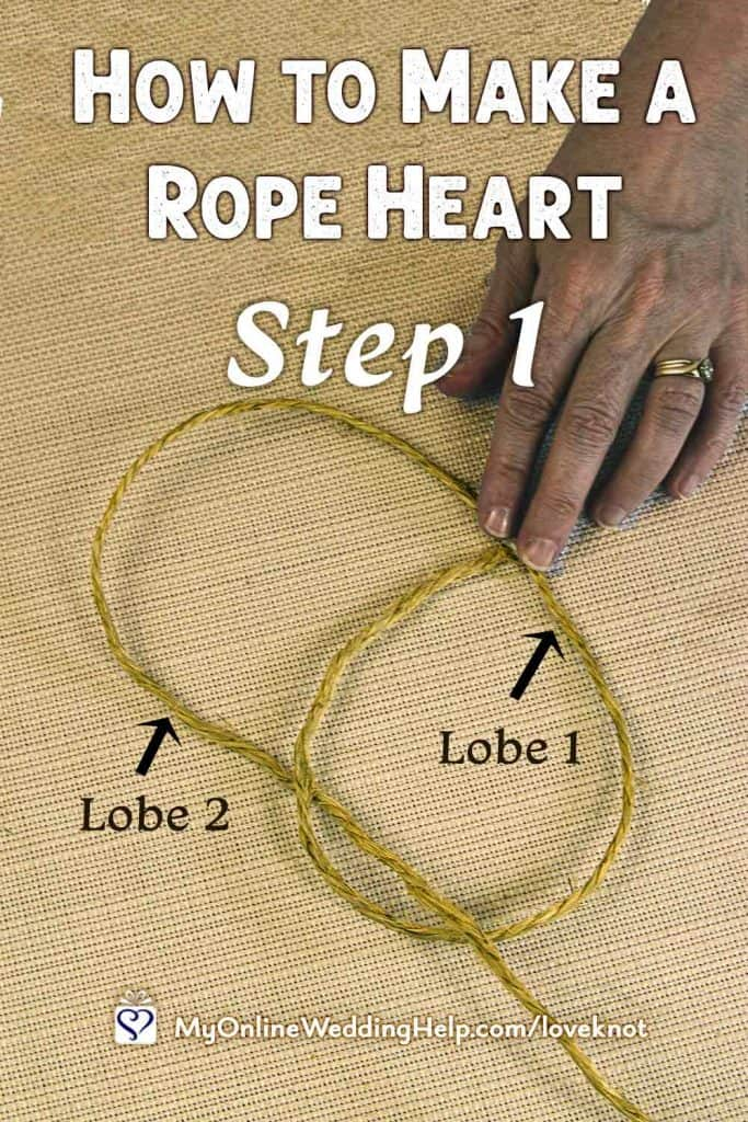 How to Make a Rope Heart Step 1
