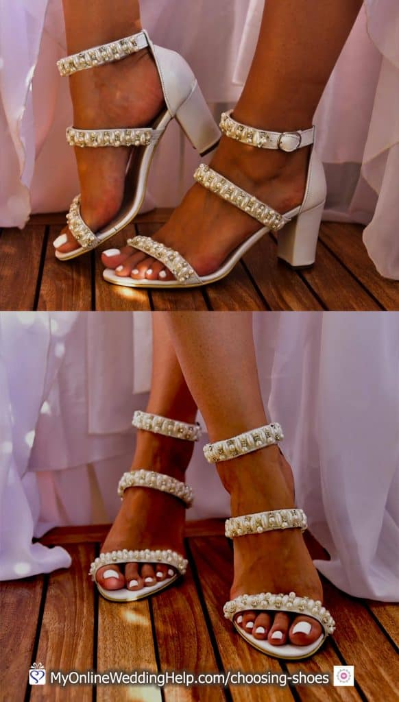Chunky Heel Wedding Shoes