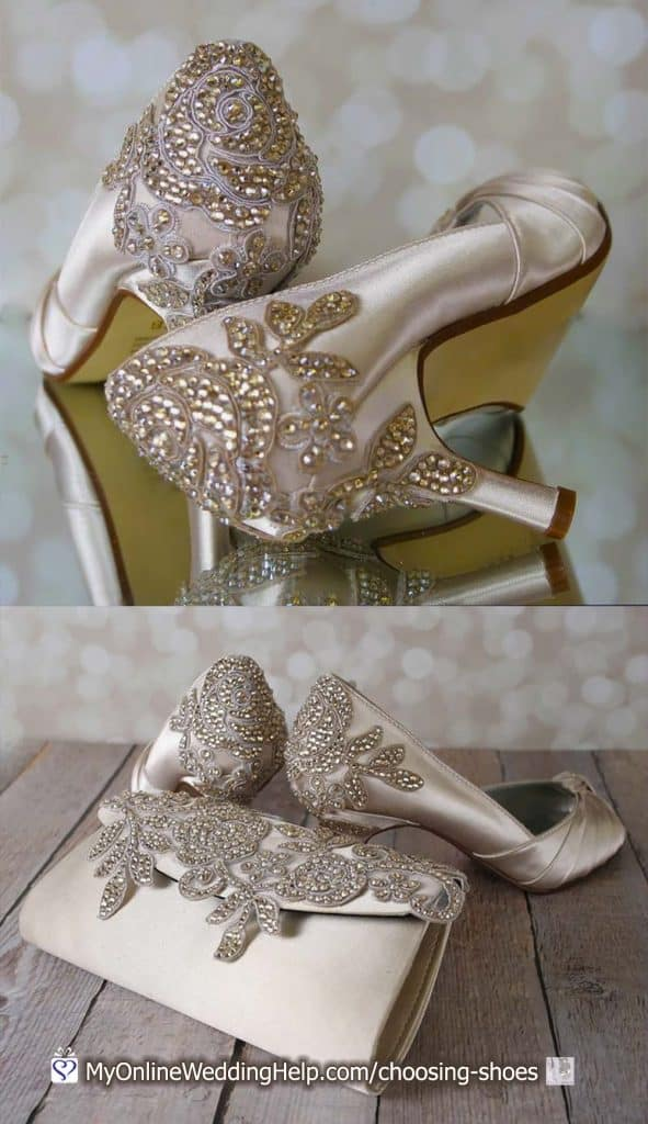 Custom Rhinestone Crystal Wedding Shoes