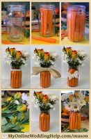 How to Make a Mason Jar Centerpiece with Flowers and Fillers