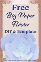 Free printable giant paper flowers / roses template with tutorial. See the full step-by-step instructions and a downloadable template on the My Online Wedding Help blog. Use as a craft project or a DIY wedding idea. #GiantRoses #FreePrintable #DIYWedding #DIYCrafts #WeddingCrafts #PaperFlowers