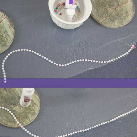 Ideas: How to Embellish a Wedding Veil with Trim 3