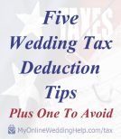 5 Wedding Tax Deductions. Tips, Plus One To Avoid 2