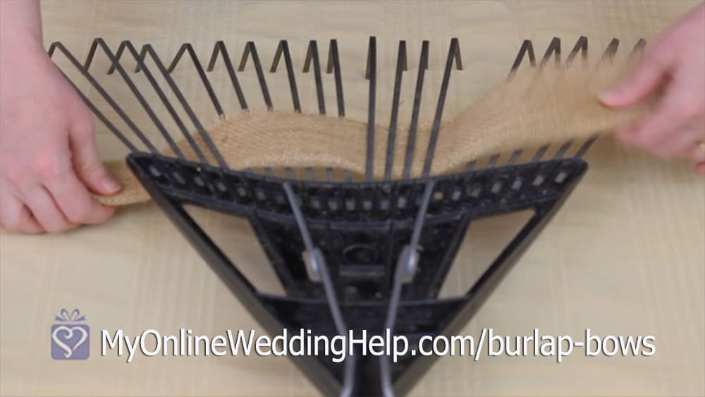 Make a Burlap Bow Step 1
