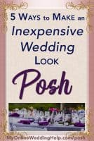 Top 5 Ways to Posh Up Your Wedding on a Budget 5