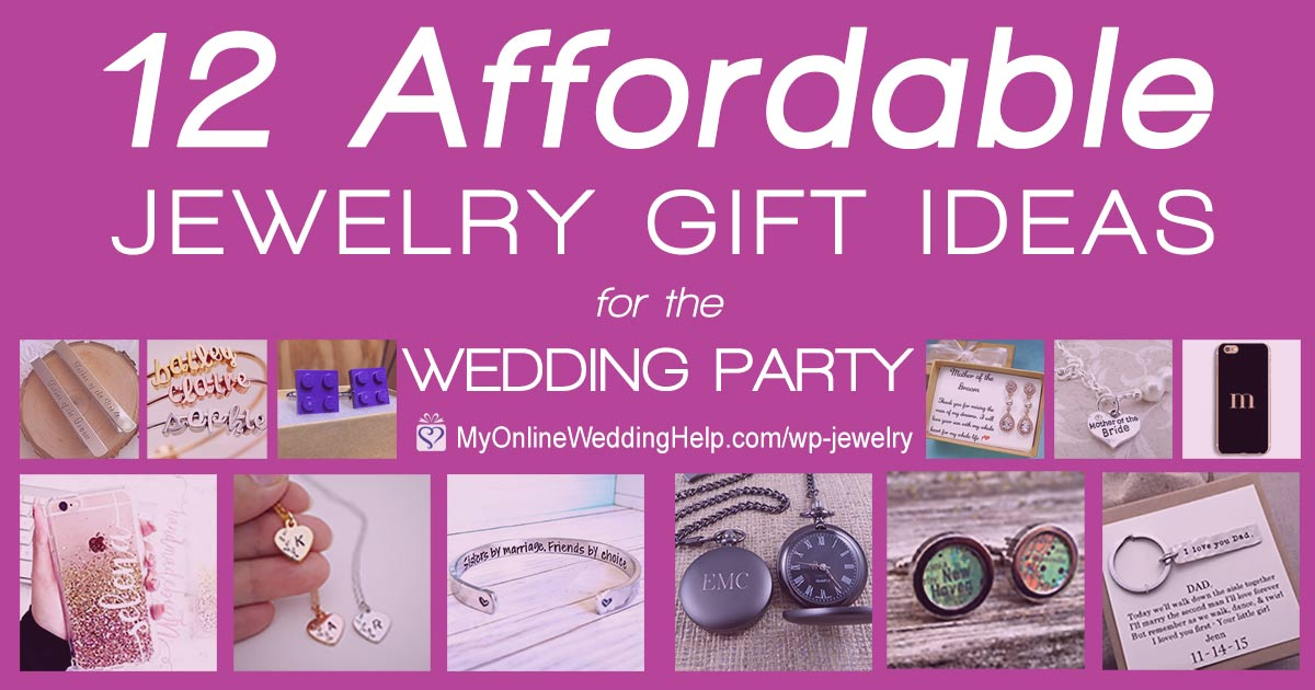 Affordable wedding party gift jewelry