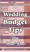 Wedding Budget Tips You Must Know