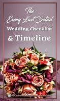 The Every Last Detail Wedding Checklist and Timeline