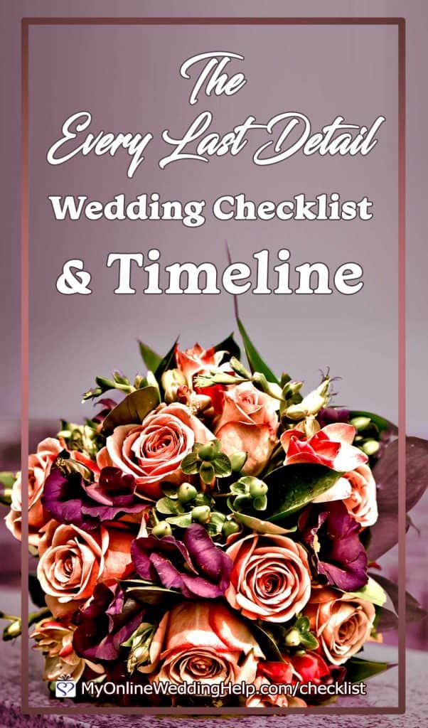 The Every Last Detail Complete Wedding Checklist and Timeline