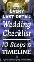 The Every Last Detail Wedding Checklist. 10 Steps and Timeline