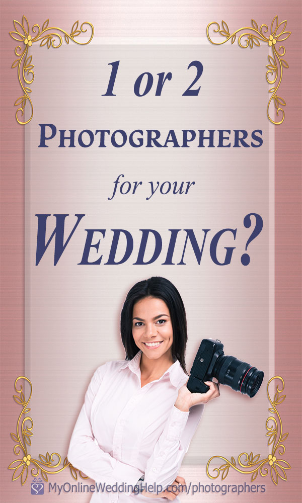 Your wedding photography tip. When you should plan for more than one photographer. Read it on the My Online Wedding Help blog. #WeddingPhotography