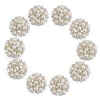 22mm Rhinestone and Pearl Flatback Flower Embellishments