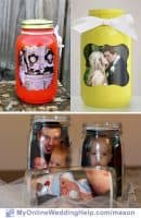 Mason Jar Centerpieces with Pictures
