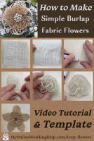 Easy DIY Loopy Burlap Fabric Flowers 2