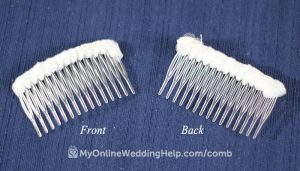 How to make a wedding veil with combs. Read the tutorial on the My Online wedding Help blog. #WeddingVeil #WeddingCombs