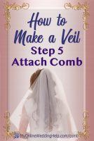 How to Make a Wedding Veil with Comb. 5 Steps! 5