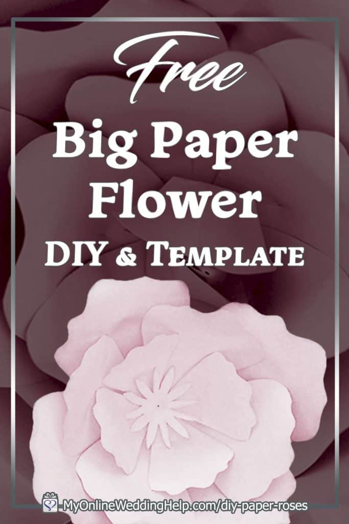 Giant Paper Flowers DIY and Template