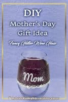 Personalized Glitter Wine Glasses - DIY Mother's Day Gift Idea