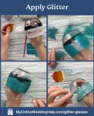 DIY Personalized Glitter Wine Glasses. 5 Steps! 2