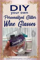 DIY Personalized Glitter Wine Glasses. 5 Steps! 1