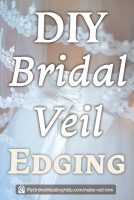 How to Make a Wedding Veil with Comb. 5 Steps! 4