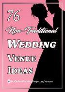 76 Non-Traditional Wedding Venue Ideas