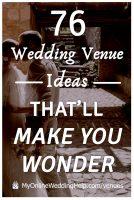 Nontraditional wedding venue ideas that'll make you wonder