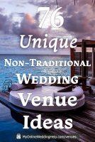 76 unique, non-traditional wedding venue ideas