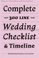 Your Complete Wedding Checklist. 10 Steps plus Timeline. 2