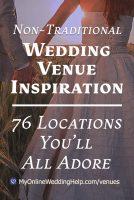 Unique Non-Traditional Wedding Venue Ideas