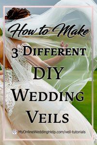 How to Make Three Different DIY Wedding Veils