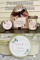 Personalized Wedding Candle Favors