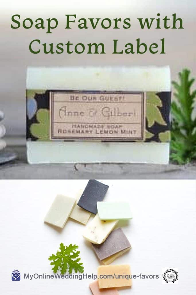 Soap Favors with Custom Label