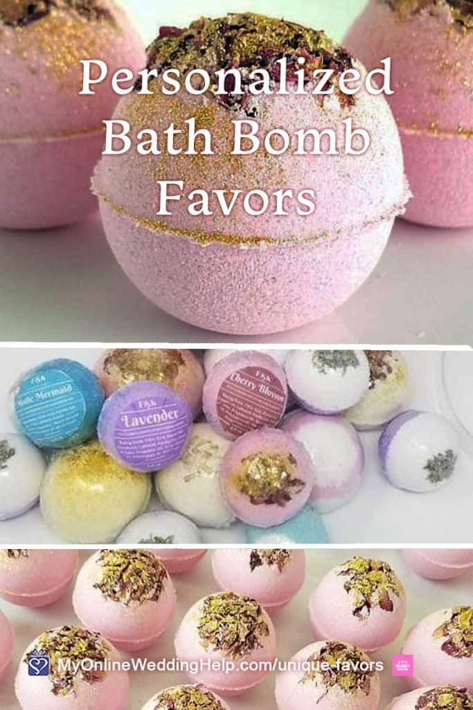 Personalized Bath Bomb Favors
