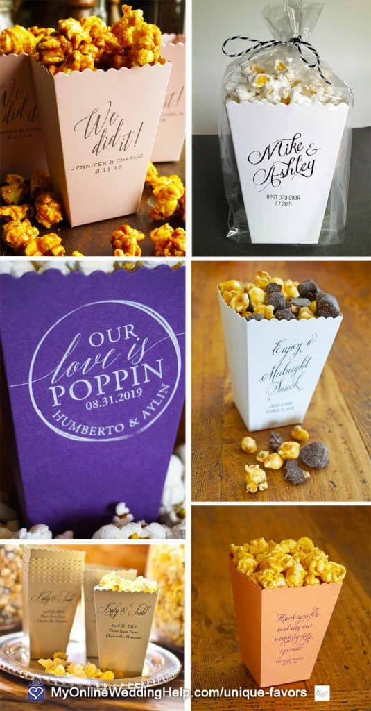 DIY Popcorn Wedding Favors