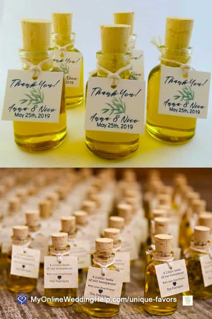 Infused Olive Oil Wedding Favors