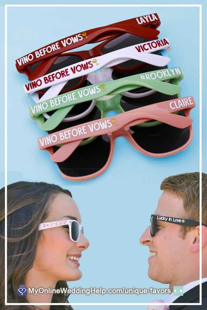 Personalized Wedding Sunglasses Favors