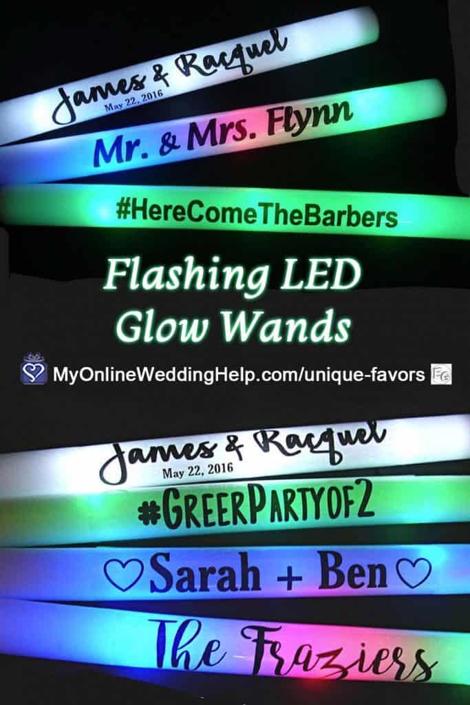Flashing Wedding Glow Wands made from Foam