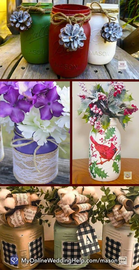 25 Mason Jar Centerpiece Ideas For Weddings My Online Wedding Help Wedding Planning Tips Tools