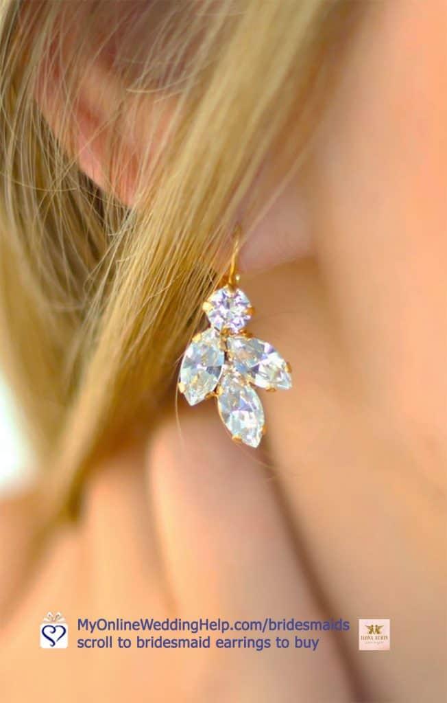 Crystal Bridesmaid Earrings