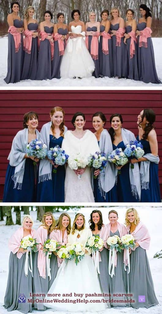 Bridesmaid Pashmina Scarves