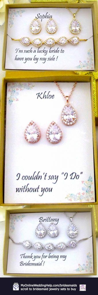 Bridesmaid Earring Necklace Set