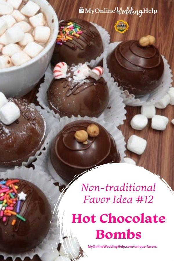 Wedding Favor Idea 12, Hot Chocolate Bombs.