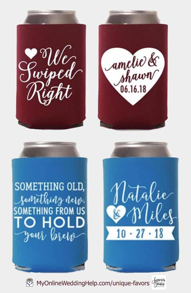 Personalized Wedding Can Koozies