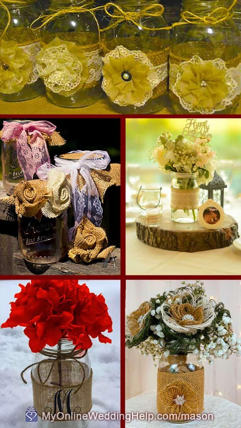 25 Mason Jar Centerpiece Ideas For Weddings My Online Wedding Help Wedding Planning Tips Tools