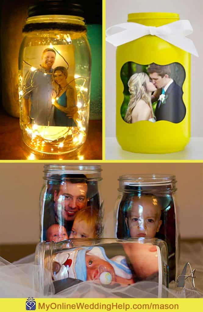 Photo Mason Jars with Pictures